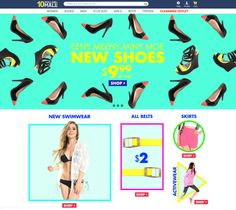 10 Dollar Mall New Shoes Homepage  #graphicdesign #webdesign #email #newsletter