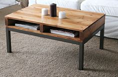 Fancied up pallet coffee table.