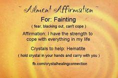 Crystal healing fainting hematite