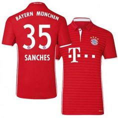 Bayern Munich Home 16-17 Season Red #35 Sanches Soccer Jersey [I500]