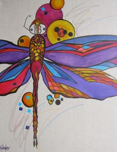 Dragonfly+Bubble,+painting+by+artist+Kay+Wyne