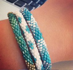 Lily and Laura Bracelets are super fun to stack. Check out our facebook for these bracelets and other fun accessories https://www.facebook.com/ShopBellaB