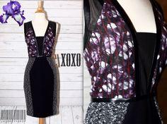 Rachel Roy Sz 4, Small, S Chic & Sexy Fall Mesh Tweed Bodycon Dress NEW NWT  | eBay