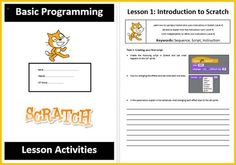 Scratch Basic Programming Coding Booklet from Computer & ICT Lesson Plans on TeachersNotebook.com -  (20 pages)  - A lovely booklet which teaches students the basics of PROGRAMMING in Scratch (a free DOWNLOADABLE SOFTWARE). Very easy to use. As students work through the booklet they build up their skills in progra