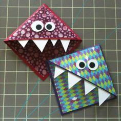 Great quick craft for kids 9 >    Monster corner bookmarks