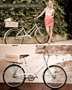 Wooden wine crates make a nifty carrier for the back of your bike... or Vespa!