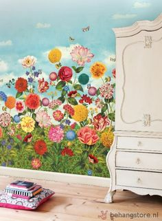 Eijf PIP 3 Fotowand Wild Flowerland bloemen multikleurig - PIP 3 Studio III behang + fotowand - Eijffinger - Behang KIDS en Baby - Behangstore