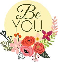 Be You Artsy Flower Logo