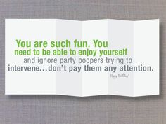 You need an intervention Foldout funny card by FINCHandHARE