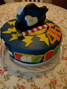 "Valentino Rossi "" The Doctor"" motogp cake"