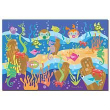 Trademark Art Grace Riley Canvas Art  Underwater Adventures