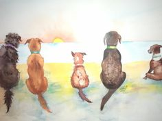 Jimmy laughed at this painting of dogs watching the sea.