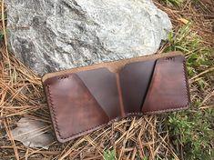 Mens Leather Bi-Fold Wallet Landscape Wallet Made in North