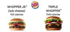 Burger King Calorie Saints and Sinners