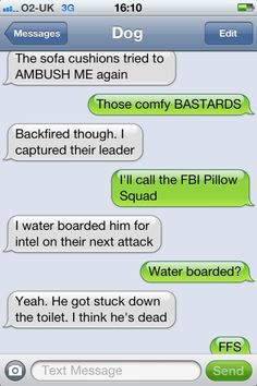 This is why Kolchak will NEVER get his own cell phone ;) | 15 Best Texts from Dog