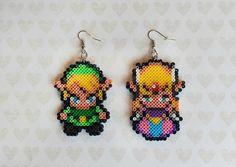 Link und Zelda Ohrringe  Zelda Schmuck Haken oder von 8BitEarrings