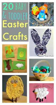 Super cute! Baby and toddler easter crafts :: simple spring crafts
