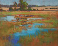Marsh Reflections, pastel, 8x10 Barbara Jaenicke