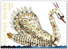 Klaus Haapaniemi Gold Swan stamp and envelope for the Finnish Post. Client: Klaus Haapaniemi & Co. Illustrations by Klaus Haapaniemi. Gray Gardens, Swan Lake, Fauna, Mail Art, Stamp Collecting, Mythical Creatures, Postage Stamps, Illustration Art, Animal Illustrations