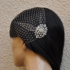 BIRDCAGE VEIL ,bridal comb, (2 items),bridal veil wedding, Bridal Hair comb,,bridal head piece,bridal hair accessories