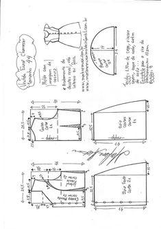 Vestido evasê chemisier manga copinho | DIY - molde, corte e costura - Marlene Mukai