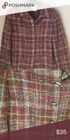Carlisle Tweed Jacket With Fringe Wool blend,  Lightweight, Excellent Condition Jackets & Coats Blazers