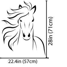 Arte de la pared del caballo caballo etiqueta Mustang caballo