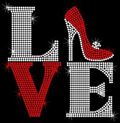 Love Squared Shoes Heels High Heel Shoe Iron On Rhinestone Shirt Transfer 50-12 | Home & Garden, Home Décor, Decals, Stickers & Vinyl Art | eBay!