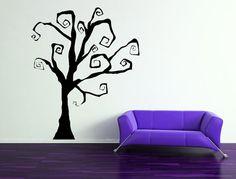Halloween Spooky Tree ou fabuleux arbre gothique toute l'année - vinyle autocollant d'Art mur