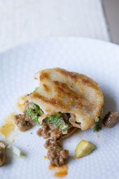Beef and Avocado Arepa