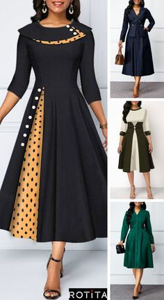 Womens Fashion - fallfashion,falldresses- hours live chat service, We are available to chat now. African Wear Dresses, Latest African Fashion Dresses, African Attire, Women's Fashion Dresses, Dress Outfits, Fashion Styles, Stylish Dress Designs, Stylish Dresses, Dresses For Work