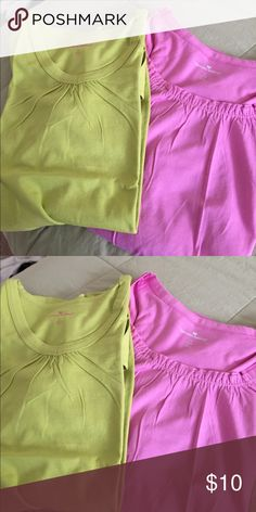 2 woman's all cotton short sleeve tops. Brandnew Mauve and green women's short sleeve tops 100% cotton. Never worn woman withinn Tops Tees - Short Sleeve
