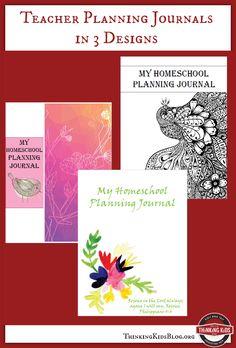 My Teacher Homeschool Planning Journals in 3 designs