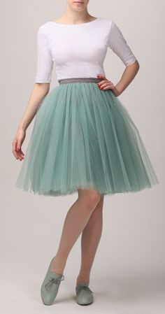 Adult mint tulle skirt