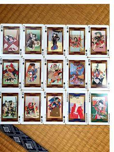 歌舞伎、トランプ、浮世絵、54シーン(Etsy のcoeurJaponより) https://www.etsy.com/jp/listing/386281154/g-w-jitoranpu-fu-shi-hui54shn  kabuki playingcard best‼︎‼︎