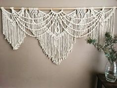 Large Macrame Wall Hanging Extra Large Macrame Tapestry for Boho Home Decor Macrame Headboard or Wedding Decor macramewallhanging Large Macrame Wall Hanging Extra Large Macrame Tapestry for Boho Home Decor Macrame Headboard or # Macrame Wall Hanging Diy, Macrame Curtain, Macrame Art, Macrame Projects, Hanging Plant, Macrame Wall Hangings, Macrame Modern, Hanging Beds, Boho Home