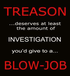 Treason deserves at least the amount of investigation you'd give to a blow job. Mafia, Political Views, Truth Hurts, Republican Party, Political Cartoons, We The People, Just In Case, At Least, Wisdom