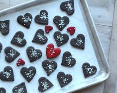 Chocolate Shortbread Cookies ♥ KitchenParade.com