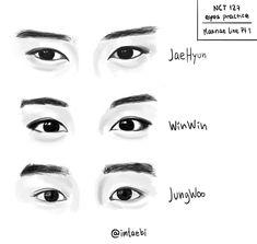 #nct #draw #jaehyun #winwin #jungwoo #fanart Sketching Tips, Drawing Tips, Drawing Reference, Kpop Drawings, Art Drawings, Nct Winwin, Jaehyun Nct, Korean Art, Art Party