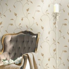 Opus Lucia Trail Beige Leaf Wallpaper - B&Q for all your home and garden supplies and advice on all the latest DIY trends Next Wallpaper, Neutral Wallpaper, Feature Wallpaper, Diy Wallpaper, Designer Wallpaper, Sticky Back Plastic, Interior Decorating, Interior Design, Neutral Colors