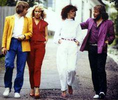 The Winner Takes It All was a big hit world wide in the summer of 1980 and it reached the Top 10 in the USA while it was number 1 in many countries. This reflective and sad song marked the beginning of a more mature ABBA. The video was shot on July the 12th 1980 in Marstrand at the west coast of Sweden because director Lasse Hallstrom was working on a movie there. The pic show ABBA relaxing at the set at the Society House and taking a walk during filming in Marstrand.