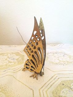 Vintage Brass Standing Butterfly by VintageVarage on Etsy