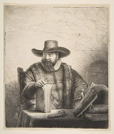 Cornelis Claesz Anslo, Mennonite Preacher Rembrandt (Rembrandt van Rijn)  (Dutch, Leiden 1606–1669 Amsterdam) Date: 1641 Medium: Etching; second state Dimensions: image: 7 5/16 x 6 3/16 in. (18.6 x 15.7 cm) sheet: 7 1/16 x 6 5/16 in. (17.9 x 16 cm) mount: 19 1/4 x 14 1/4 in. (48.9 x 36.2 cm) Classification: Prints Credit Line: Gift of Felix M. Warburg and his family, 1941 Accession Number: 41.1.51
