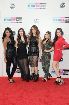 Normani Kordei, Lauren Jauregui, Dinah Jane Hansen, Ally Brooke, and Camila Cabello of Fifth Harmony attend the 2013 American Music Awards