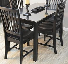Find the biggest selection of Kitchen & Dining Room Furniture from CAROLINA CHAIR at the lowest prices. Dining Room Chairs, Dining Room Furniture, Dining Table, Kitchen Dining, Small Spaces, Solid Wood, Cottage, It Is Finished, Black