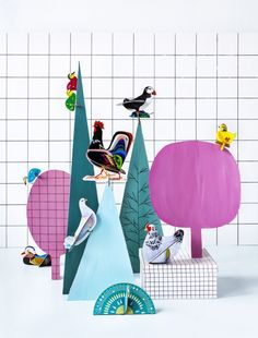 Birds Pop out cards by Studio Roof #Design #Kids #Cardboard #Toys #Craft #Play #Fun #Deco #Animals #Popoutcards