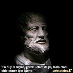 """""""En büyük suçlar, gerekli olanı değil, fazla olanı elde etmek için işlenir."""" #Aristoteles #epikse #özlüsözler #anlamlısözler #güzelsözler #gününsözü #edebiyat #felsefe #şiirsokakta"""
