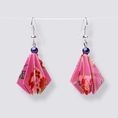 Origami Flower Drop Earrings - HZ177 Dangly Earrings, Drop Earrings, Origami Artist, Origami Flowers, Japanese Paper, Blooming Flowers, Handmade Accessories, Great Gifts, Pearls