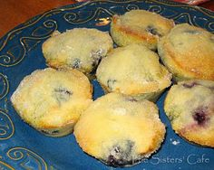 Grandma's Famous Blueberry Muffins | http://www.thesisterscafe.com/2010/01/grandmas-famous-blueberry-muffins-2