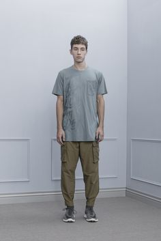 1T02_Splicing Pocket Long Tee/1P02_Water-Resistant Bandage Worker Pants